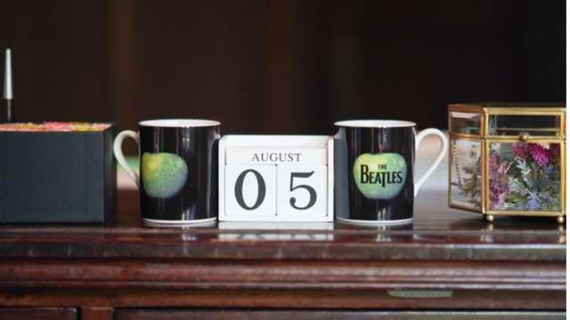 ビートルズのモチーフのマグカップ