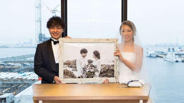 前撮り写真を結婚証明書に!