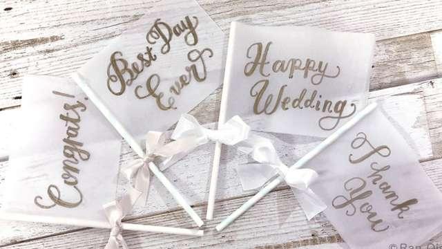 結婚式のフォトプロップス