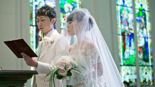 モンサンミッシェル大聖堂の結婚式