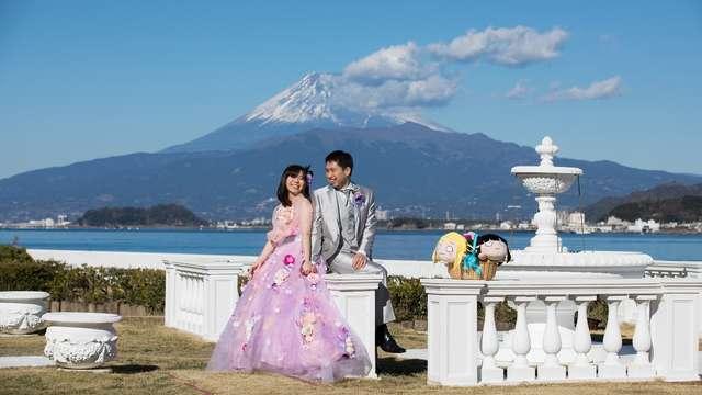 結婚式の写真 噴水