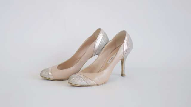結婚式向け靴・パンプスピンク