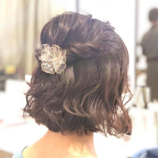 結婚式お呼ばれ髪型<ショート&ボブ>簡単ヘアアレンジまとめ