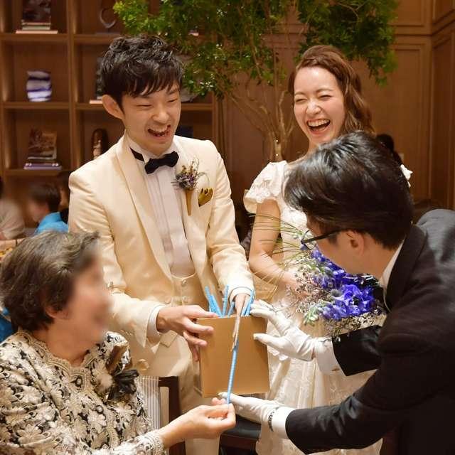 結婚式のテーブルラウンド
