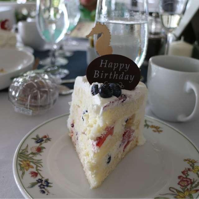 披露宴でのバースデーケーキ