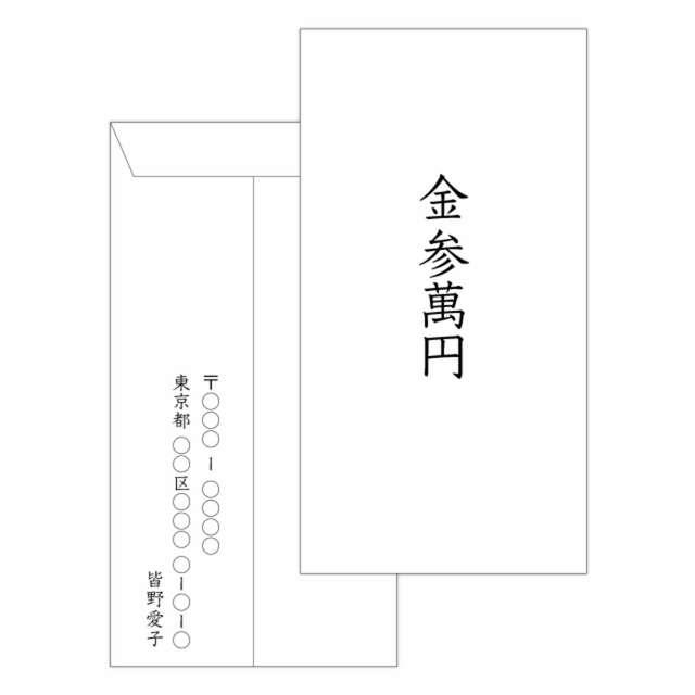 結婚式ご祝儀袋の中袋の書き方
