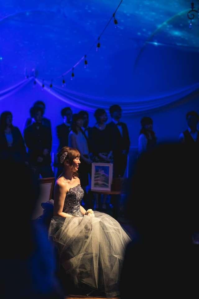 結婚式のカラードレス