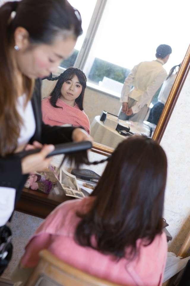 淡島ホテルのヘアメイク