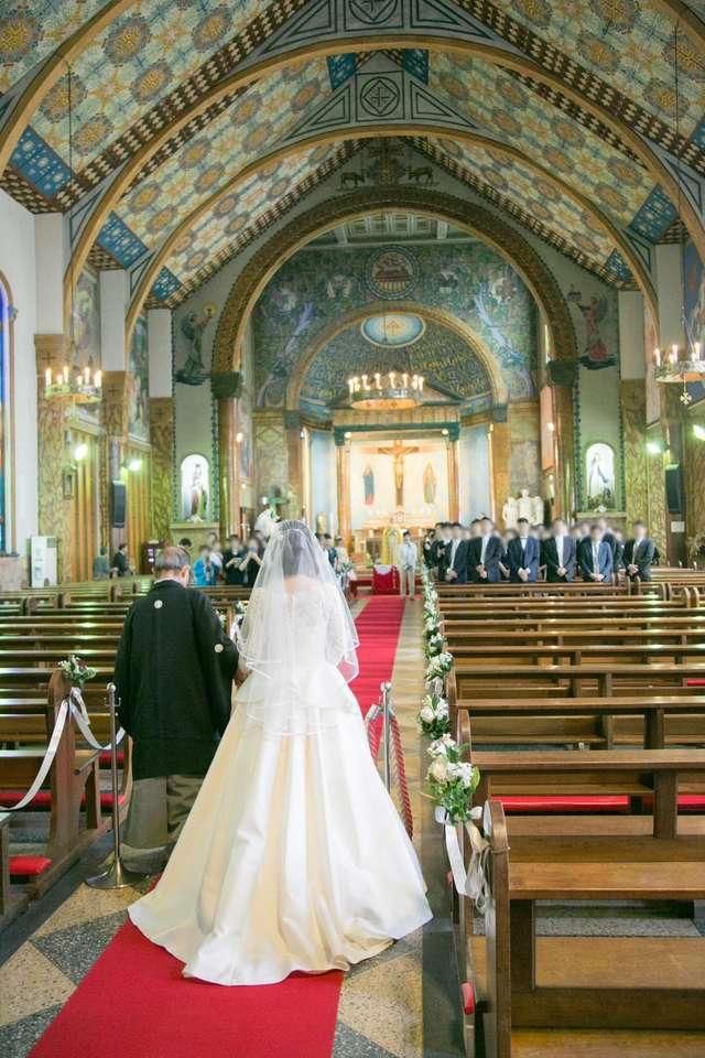 サレジオ教会のバージンロード