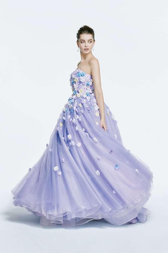 紫・ラベンダーカラーのカラードレス