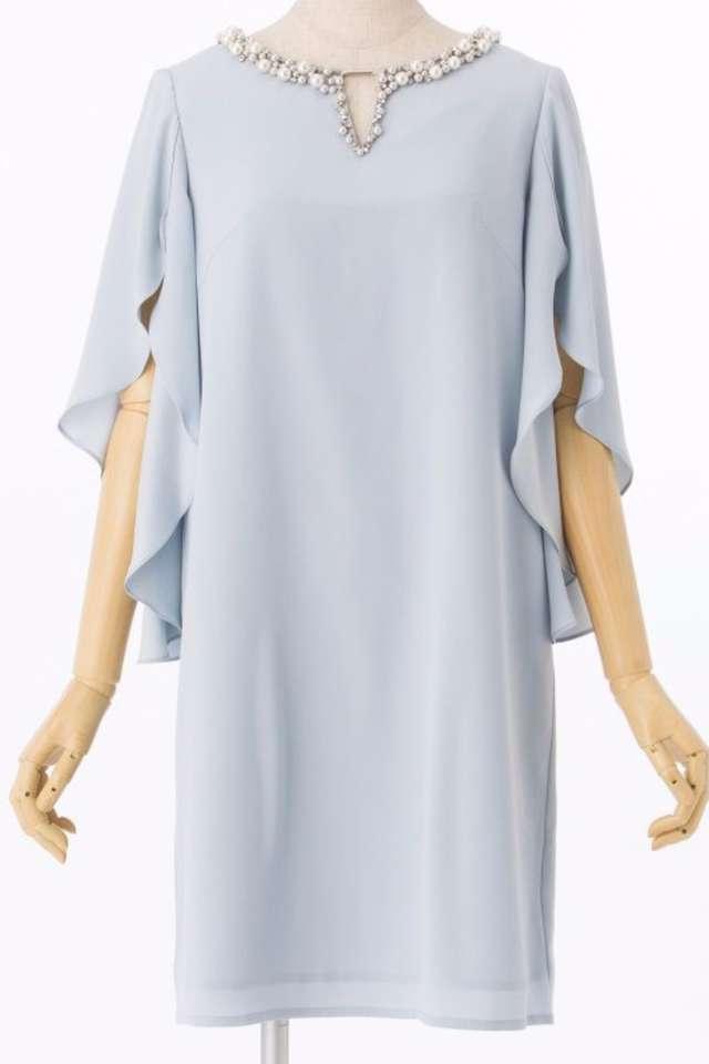 30代向け水色ドレス