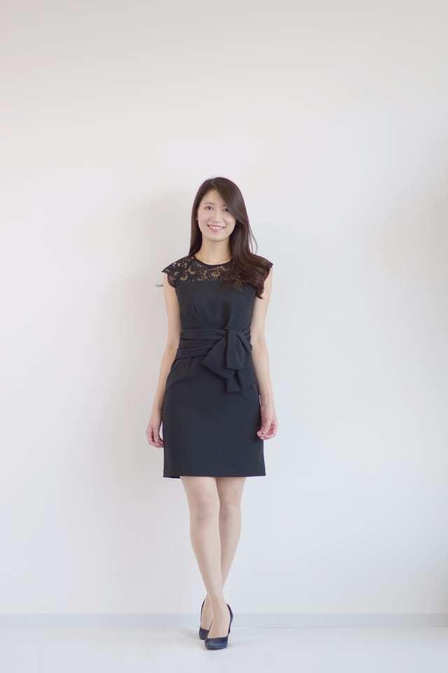 ae15843b53b7a 黒いゲストドレスは合わせやすく、1着は持っておきたい便利なアイテム。