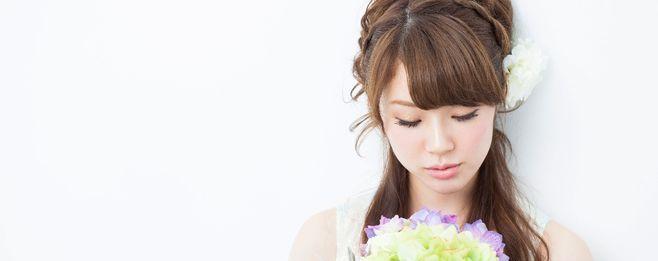 結婚式の髪型<ロングヘア>編み込み&ハーフアップスタイル