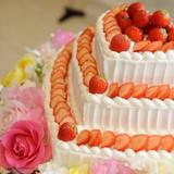 ハートのウェディングケーキ