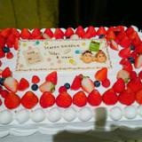 オリジナルケーキを作って頂きました!