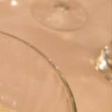 全てのガラス食器は至ってシンプル