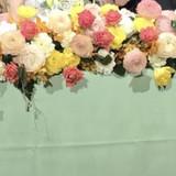 高砂の装花も生花で豪華