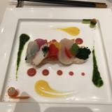 蟹と魚介と野菜のオードブル