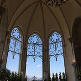 背の高い教会、素敵です。