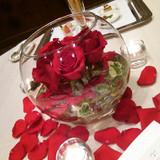 円卓の花です