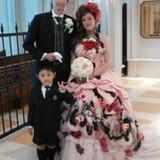 ピンクのカラードレス、とても素敵でした