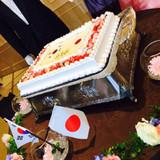 可愛いウェディングケーキ。