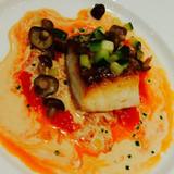 真鯛のポアレ トマトフォンデュソース