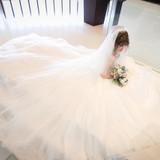 チュール素材のドレス