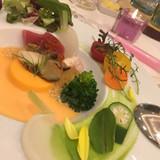 色彩豊かなお料理。