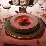 海の幸と小松菜と、トマトのジュレ