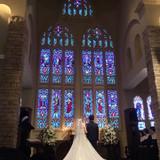 大聖堂での挙式です。とても綺麗でした。