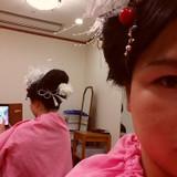 地毛で新日本髪
