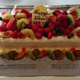 完成したケーキです。