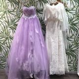 マーメイドドレスとパープルのカラードレス