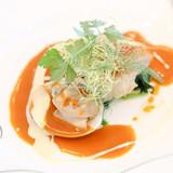 金目鯛のポワレ 蛤クリームとアメリカン