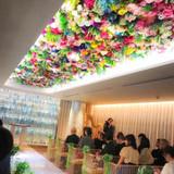 チャペルの天井の花はみんなに好評でした!