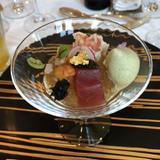 前菜もおしゃれ。海鮮が贅沢です。