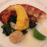 オマール海老と帆立貝のソテー