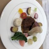 季節野菜と牛フィレ肉とフォアグラ