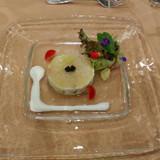 真鯛のスライスと野菜のサラダ