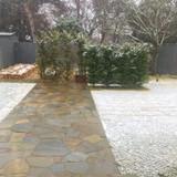ちょうど雪が降っていて綺麗でした。
