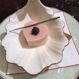 ハートが結婚式らしい胡麻豆腐