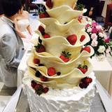 ケーキカット用ウェディングケーキ