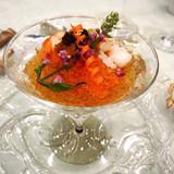 オマール海老とキャビアを使った前菜