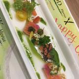 サーモンと旬野菜の前菜