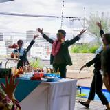 ドリンクビュッフェの時のダンス