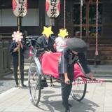 人力車で神社まで行きました^^