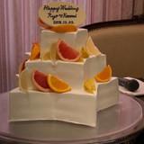 星型のウェディングケーキ