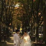 定禅寺通りでの撮影
