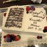 楽譜モチーフウェディングケーキ